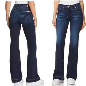 Dojo Wide Leg Flare Dark Wash Jeans